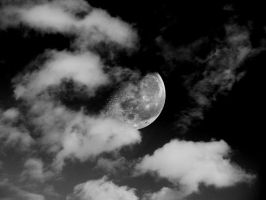 moon and clouds by felixw