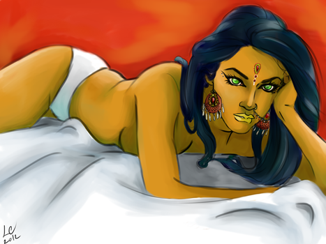 Laying by LadyCamafeo