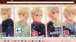 Hetalia Nordics Chrome Theme. by BARELA
