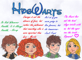 The Big Four: Hogwarts and Their Quotes to live by by mynameisshutup