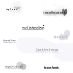 Photoshop Text Brushes 2 by kls010