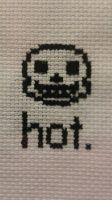sans cross-stitch by worstponayfan