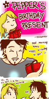Pepper's birthday present by starkenner