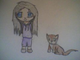 Girl and her dog by katch112