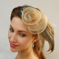Green Leopard Fascinator by tracyholcomb