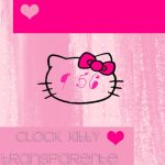Clock Hello Kitty Transparente by SriitaDeWatt