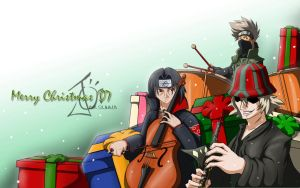 A Christmas Orchestra by devilp3nguin