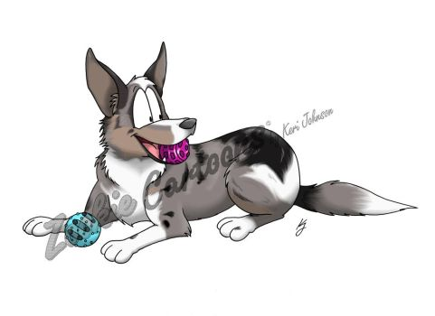 Comm: Merlin the Border Collie by ZookieDragon