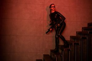 Tomb Raider Lara Croft catsuit - alertness by TanyaCroft