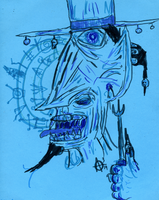 The Blue Wizard by MrAdam