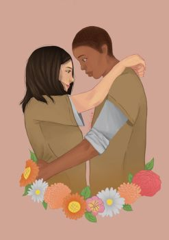 Soso and Poussey by Halcynk