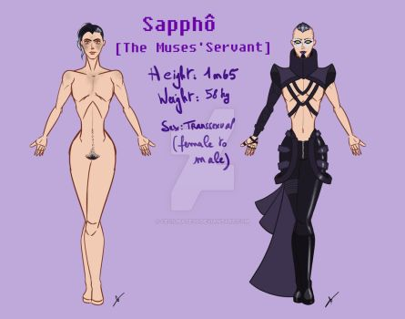 Sappho Reference sheet by CecilMateus