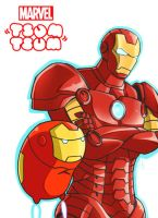 Marvel Tsum Tsum: Ironman by Evelynism