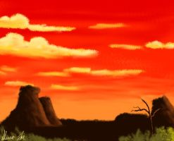 The Sun Sets in the Wild West by srlOctober23