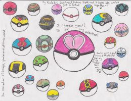 Pokeballs by Ender-Sammi