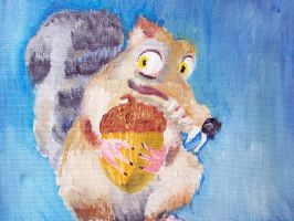 Scrat - oil painting by MadCookie333