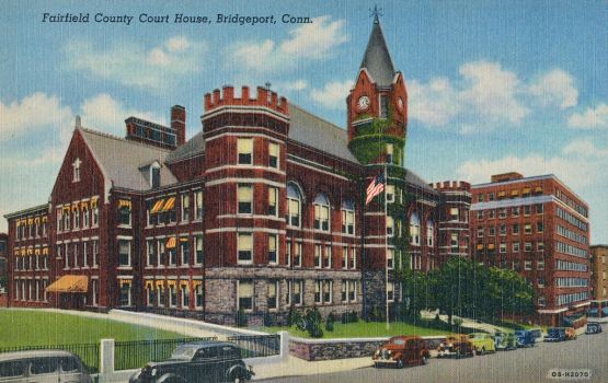 Vintage New England - Fairfield Co. Courthouse by Yesterdays-Paper
