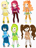 Frutti Adoptables 2--10 Points each (Closed) by aquadopts