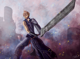 Cloud Strife by FrankAtt