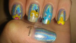 Mistys Pokemon Nails by rabbithat8