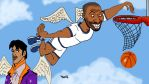 Charlie Murphy playing hoops in Heaven with Prince by Makinita