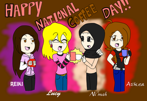 Happy National Coffee Day! by FoaminianPriestess