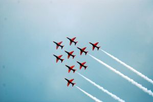Red Arrows Formation by Mark-Allison