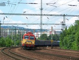 M41 2323 with a fast train in Budapest... by morpheus880223