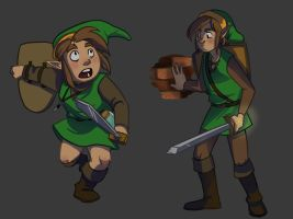 Classic Link 1 and 2 by DeathByBacon