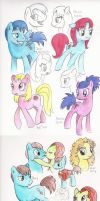 DWhooves companion doodles by bandotaku