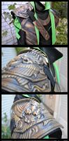 Loki cosplay details by lady-narven