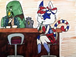 Another day at the cafe by BunnybeIIe