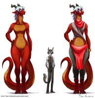 Librarian Cat and Dragoness by davi-escorsin