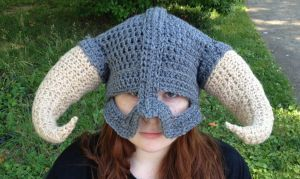 skyrim inspired helm with extra large horns by Drgibbs