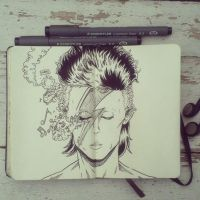 #8 Happy Birthday David Bowie by 365-DaysOfDoodles
