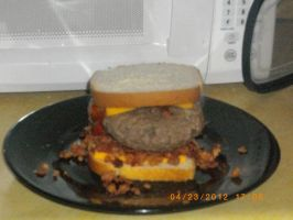 your heart hates you 1lb of bacon burger cheese by Daswookie108