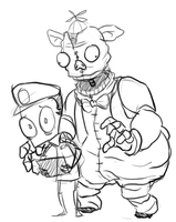 Five Nights at Bloaty's - Sketch by AccursedAsche