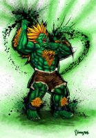 Blanka Ultra Street Fighter IV. by viniciusmt2007