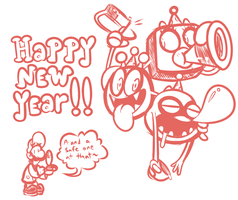 A Happy New Year from Dr. Luigi by JamesmanTheRegenold