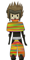 Rainbow Sasuke by 5Ds-rabid-fangirl