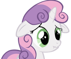 Sweetie Belle Scrunchy Face by FlipsideEquis