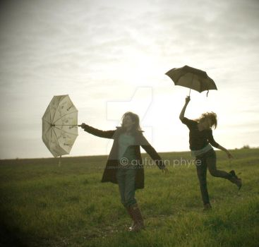 Umbrella Dance: Trip the light fantastic by AutumnPhyre