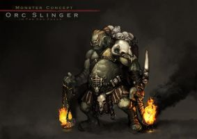Concept : An Orc Slinger by reaper78