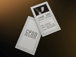 Freebie CPDD-Ribbon Minimalistic Business Card PSD by CPDigitalDarkroom