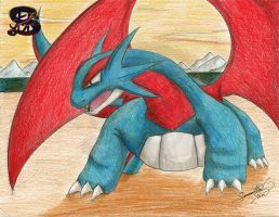 yes...? - pencil art - pokemon fan art - salamence by sammacha