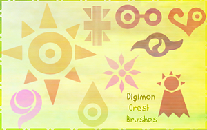 Digimon Crest Brushes by shinneth