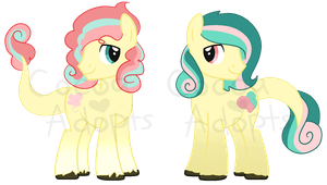 Cotton Candy Twins .:CLOSED:. by CocoaAdopts