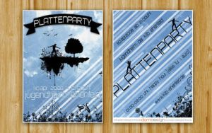 Flyer Plattenparty by DOMDESIG by psd-Club