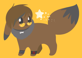 Paid Request - Chris the Eevee by drill-tail