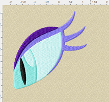 nightmare moon embroidery file eye by Digifilez